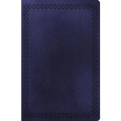 NKJV, Large Print Ultraslim Reference Bible, Rich Navy