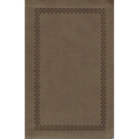 NKJV Personal Size Giant Print Reference Bible Leathersoft, Olive Brown