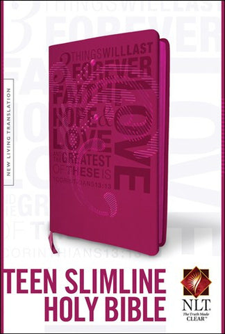 NLT Teen Slimline Bible, Hot Pink