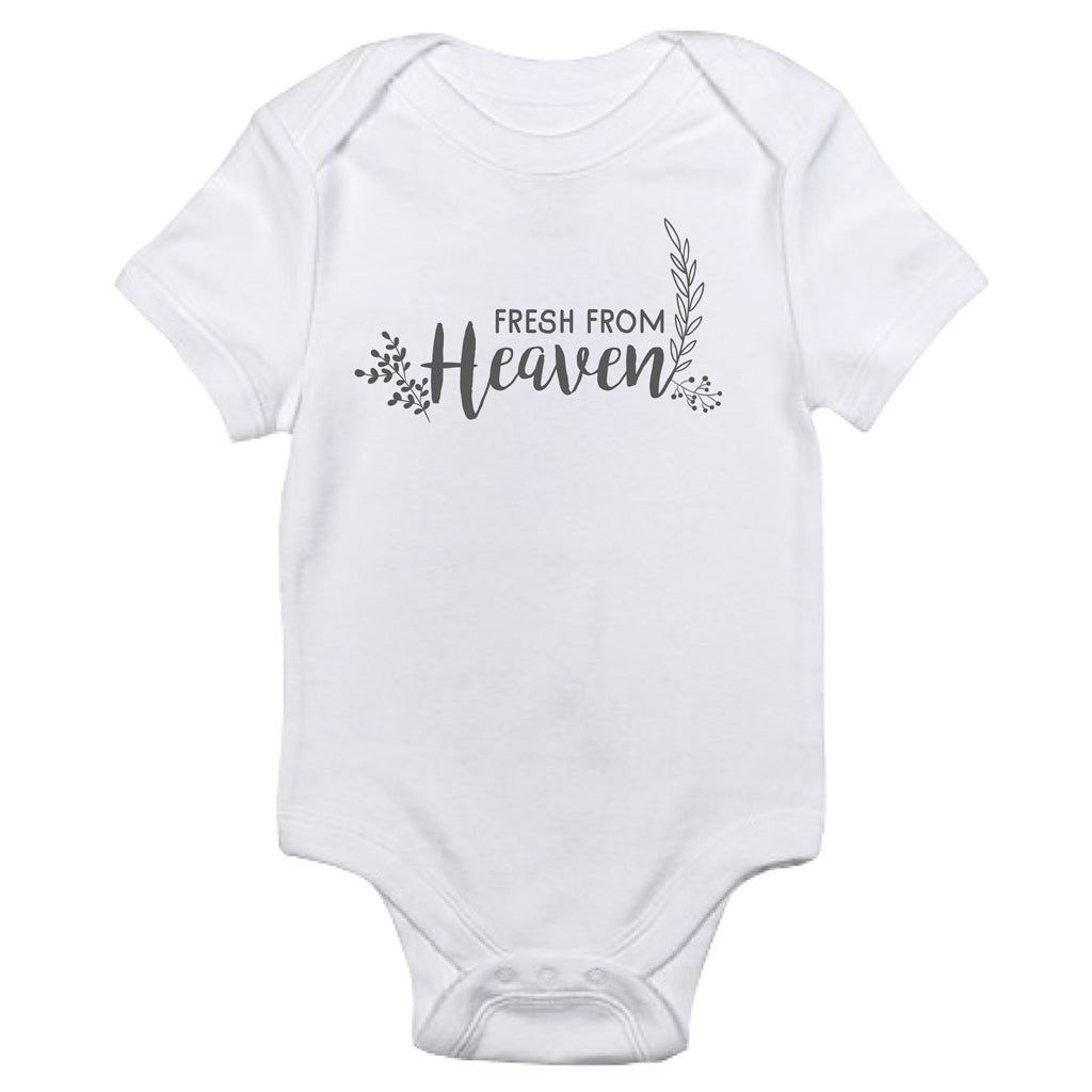 ROCKONLINE | New Creation Church | NCC | Joseph Prince | ROCK Bookshop | ROCK Bookstore | Star Vista | Lifestyle | Mothers | Baby Shower | Gift Ideas | Scriptures | Baby Onesie Fresh From Heaven by Jacob Rachel | Free delivery for Singapore Orders above $50.