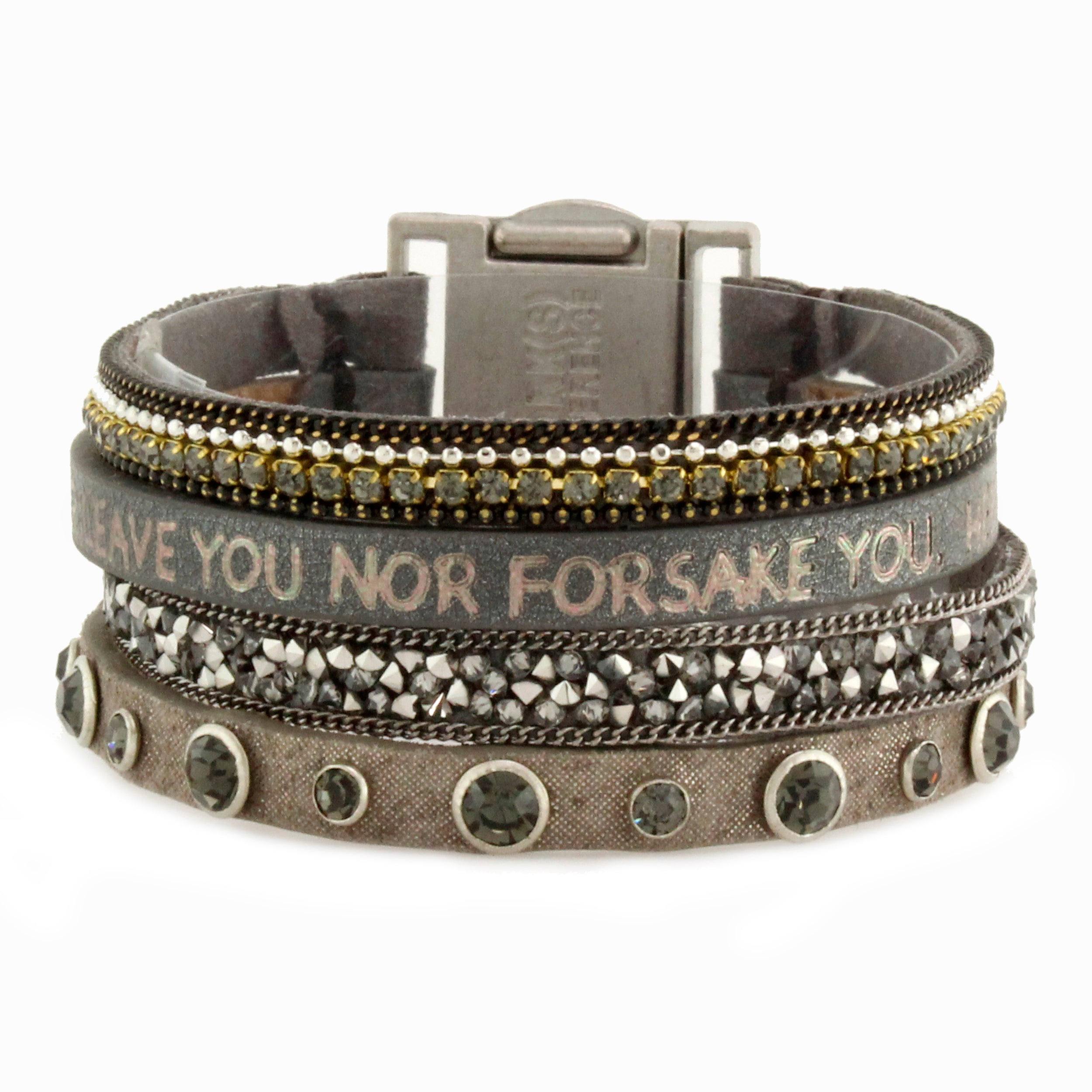 Leather Bracelet, Unity Quad Bible