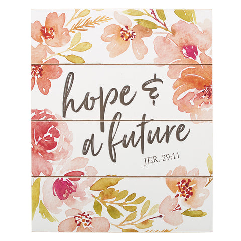 "Wall Plaque 13"" – Hope and Future"
