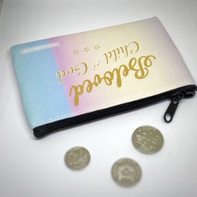 ROCKONLINE | New Creation Church | Joseph Prince | Scriptures | Gifts | Coin Pouch | Scriptures | PU Coin Pouch 13x9cm, The Super Blessed | Christian Gifts | Small Gifts | Women | Youth | The Super Blessed | Rock Bookshop | Rock Bookstore | Star Vista | Free Delivery for Singapore Orders above $50.