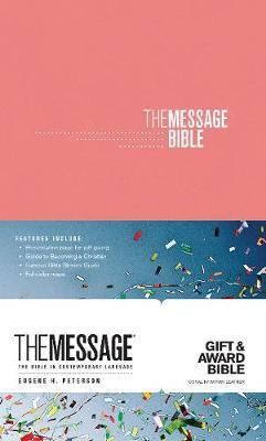 ROCKONLINE | New Creation Church | NCC | Joseph Prince | ROCK Bookshop | ROCK Bookstore | Star Vista | MSG | Bible | The Message Gift and Award Bible | Pink | Free delivery for Singapore Orders above $50.