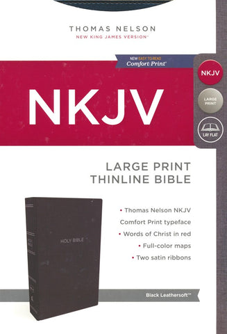 NKJV Thinline Bible Large Print, Black
