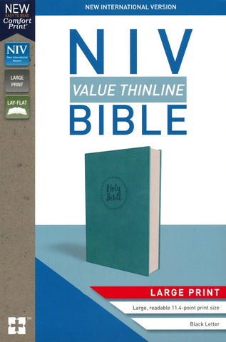 NIV Value Thinline Bible Large Print, Blue Leather
