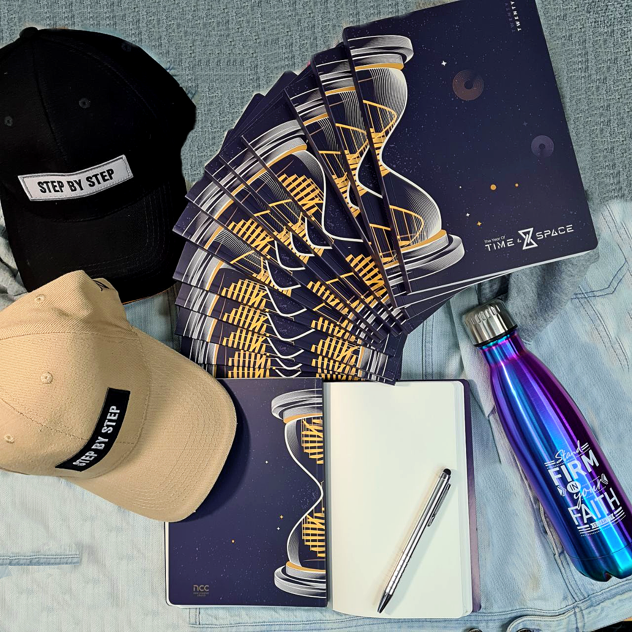 ROCKONLINE | New Creation Church | NCC | Joseph Prince | ROCK Bookshop | ROCK Bookstore | Star Vista | Time & Space A5 Notebook | Time & Space Merchandise Special Bundle | Baseball Cap | 2020 Year of Time & Space | Free delivery for SG orders above $50.