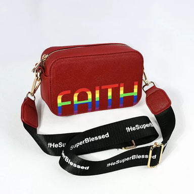 ROCKONLINE | New Creation Church | Joy Sling Bag Rainbow FAITH by The Super Blessed | Accessories | Fashion | Apparel | Youth | Teen | Boys | Girls | Christian Gifts | The Super Blessed | Rock Bookshop | Rock Bookstore | Star Vista | Joseph Prince | Free Delivery for Singapore Orders above $50.