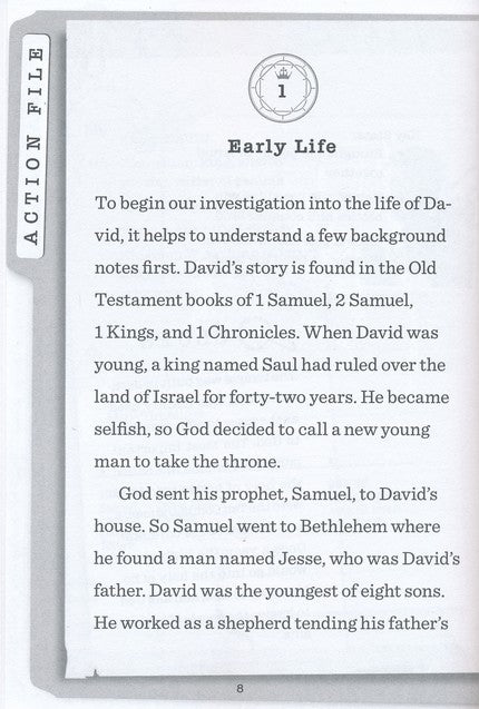 ROCKONLINE | New Creation Church | NCC | Joseph Prince | ROCK Bookshop | ROCK Bookstore | Star Vista | Children | Preteen | Bible Story | Christian Living | Bible | Kingdom Files: Who Was David? | Free delivery for Singapore orders above $50.