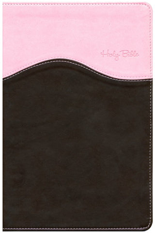 NIV Gift Bible, Pink/Chocolate Duo-Tone Leather