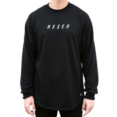 Hesed Wisdom Drop Shoulder Long Sleeve Oversized Tee