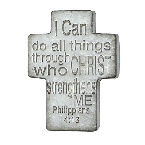 Metal Wall Cross – I Can Do All Things Through Christ