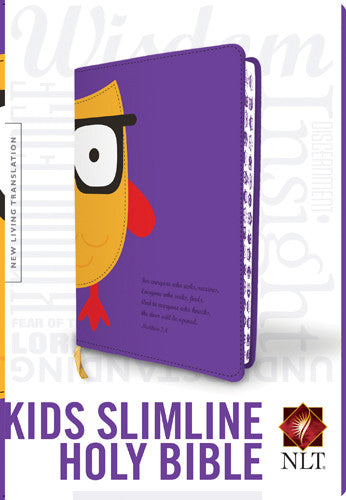 ROCKONLINE | New Creation Church | NCC | Joseph Prince | ROCK Bookshop | ROCK Bookstore | Star Vista | Children | Kids | Tyndale | New Living Translation | Owl | Purple | Christian Living | God's Word | Kids Slimline Holy Bible, Wisdom | Free delivery for Singapore Orders above $50.