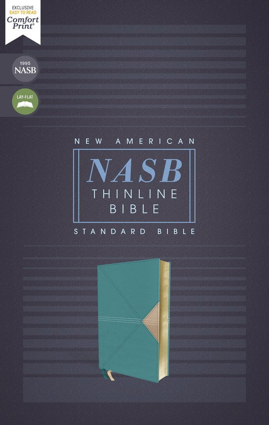 ROCKONLINE | New Creation Church | NCC | Joseph Prince | ROCK Bookshop | ROCK Bookstore | Star Vista | NASB | Bonded Leather Teal | NASB Comfort Print Thinline  | Thinline Bible | Free delivery for Singapore Orders above $50.