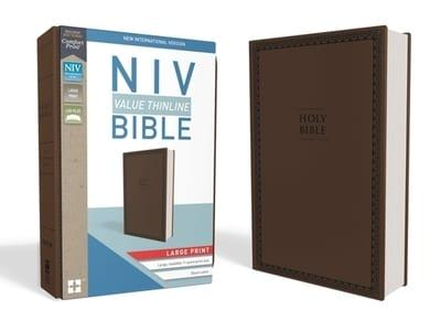 ROCKOnline | New Creation Church | Joseph Prince | Lifestyle | Christian Gifts | NIV | NIV Value Thinline Bible Large Print Brown Leather | Large Print | Brown Leather | Free delivery for Singapore Orders above $50.