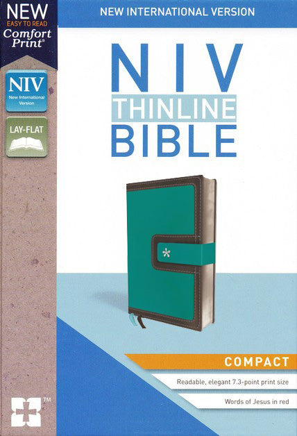 ROCKONLINE | New Creation Church | NCC | Joseph Prince | ROCK Bookshop | ROCK Bookstore | Star Vista | NIV | NIV Thinline Compact Bible | Turquoise/Chocolate Leather | Compact Bible | Free delivery for Singapore Orders above $50.