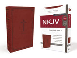 NKJV Thinline Bible Red Letter Edition, Crimson Leathersoft
