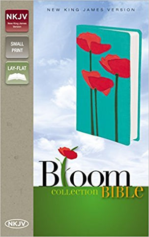 NKJV Bloom Collection Compact Bible (Poppies)