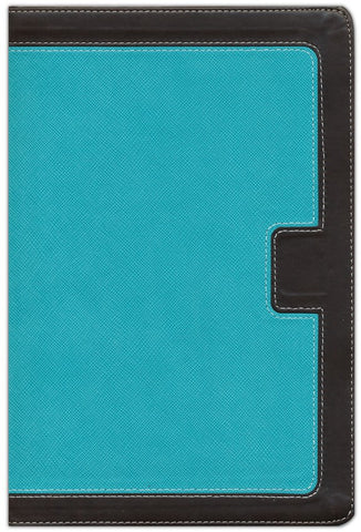 NKJV Giant Print Centre-Column Reference Bible, Turquoise/Expresso