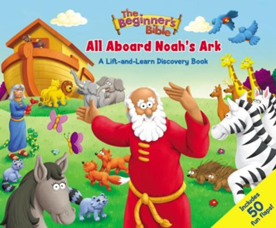 ROCKONLINE | New Creation Church | NCC | Joseph Prince | Zondervan | ROCK Bookshop | ROCK Bookstore | Star Vista | Children | Toddler |  The Beginner's Bible: All Aboard Noah's Ark, Board Book | Free Delivery for SG Orders Above $50.