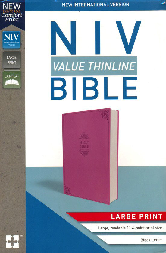 ROCKOnline | New Creation Church | Joseph Prince | Lifestyle | Christian Gifts | NIV Value Thinline Bible Large Print Pink Leather | Free delivery for Singapore Orders above $50.