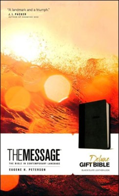 The Message: Deluxe Gift Bible (Black/ Slate Leather-Look)