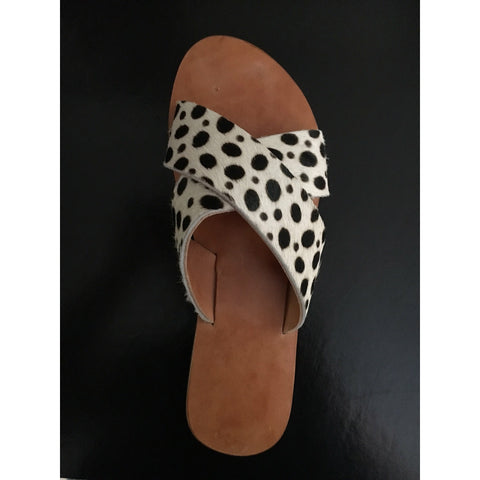 Cross Over Sandal - Leopard
