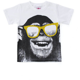 Monkey Sunglasses T-Shirt - White