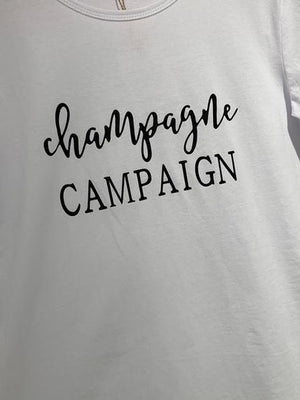 Champagne Campaign Tee - White