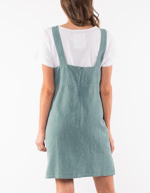 Petal Pinafore - Sage Green