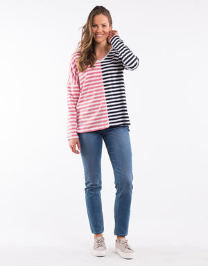 Endeavour Long Sleeve Tee - Stripe