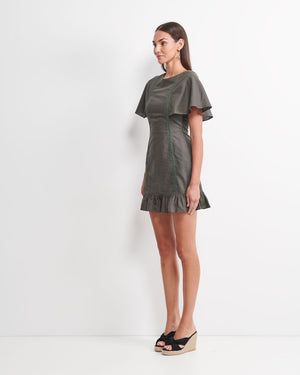 Layla Dress - Forest Green