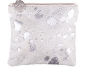 Kim Silver Metallic & Cream Coin Purse