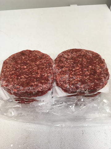Grass-Fed 6 oz Ground Beef Patties 15 per case