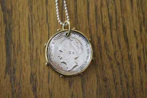 Silver Dutch Coin Pendant