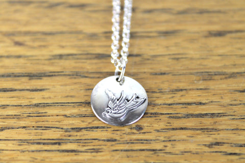 Swallow Disc Pendant