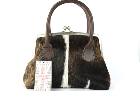 Freya Cowhide Tote Tri-Colour
