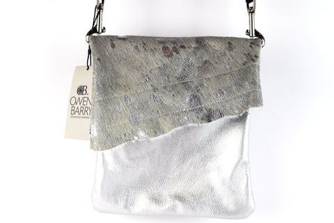 Silver Cross Body bag