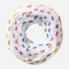 Colorful English Bulldog Infinity Loop Pearl Chiffon Scarf