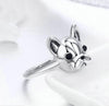 French Bulldog Sterling Silver Ring