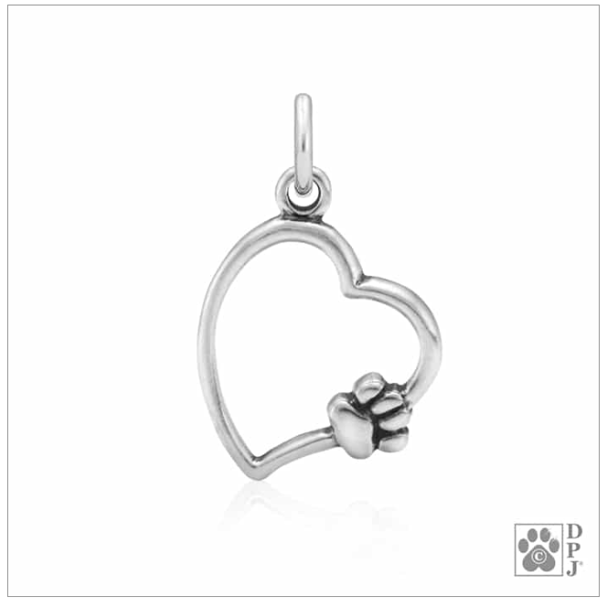 Paw on My Heart Paw Charm
