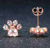 Rose Gold Paw Earring