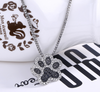 Black Paw Print Necklace