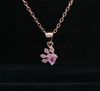 Rose Gold Pendant with Chain