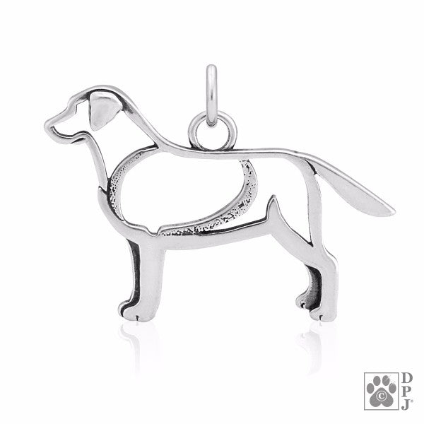 Labrador Retriever Charm .925 Sterling Silver Pendant - Body