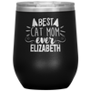 Personalized Best Cat Mom 12oz Stemless Wine Cup