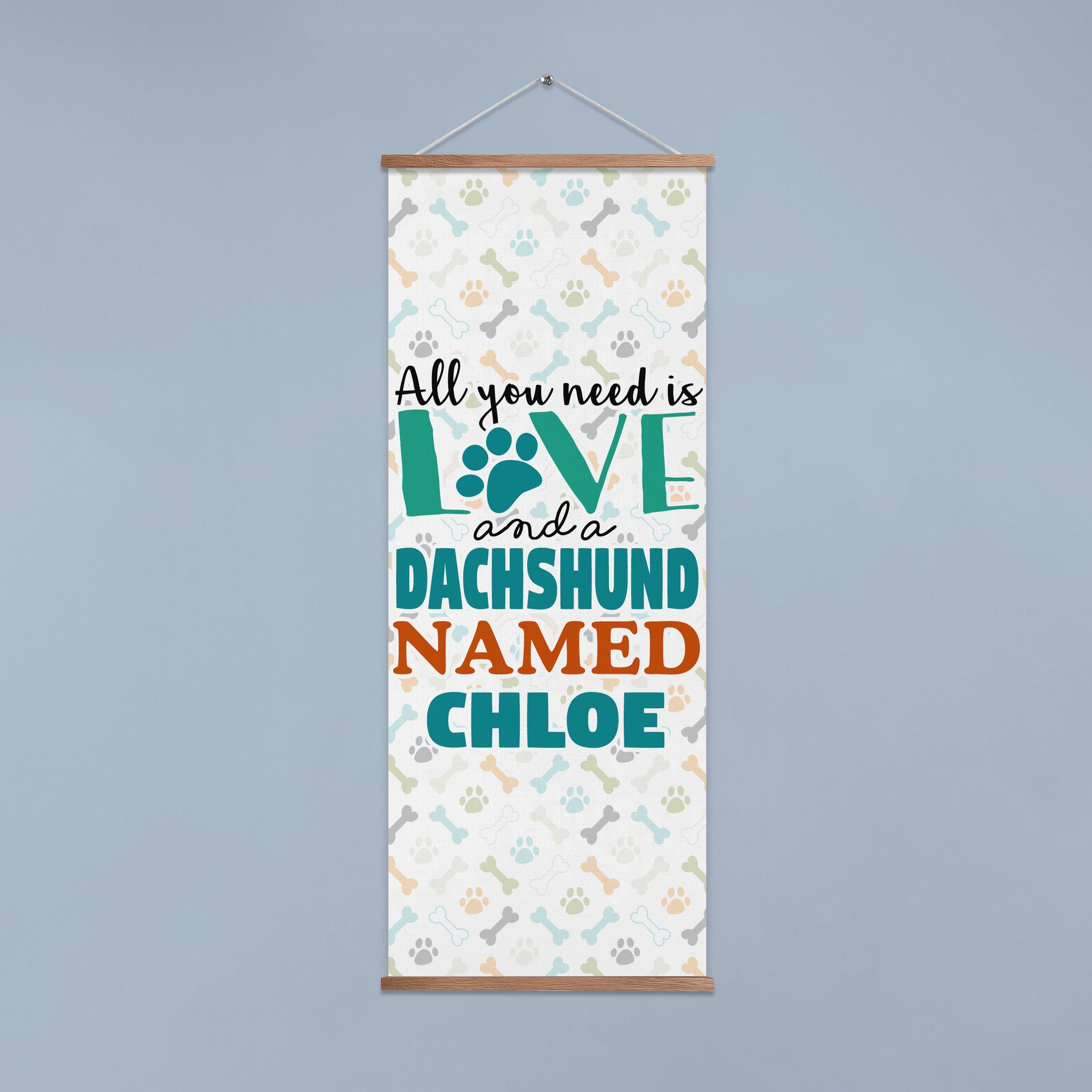 Personalized All You Need is a Dog Breed Named Dog Named Door Banner