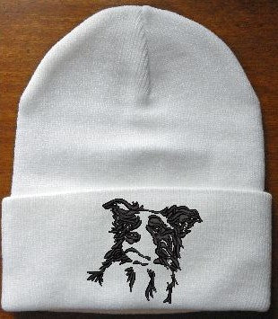 Hand Made Border Collie Knit Hat