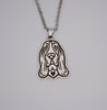 Basset Hound Portrait Pendant Necklace D