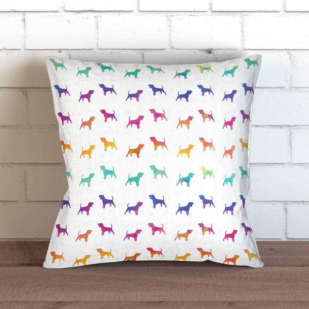 Colorful Dog Pillow Cover